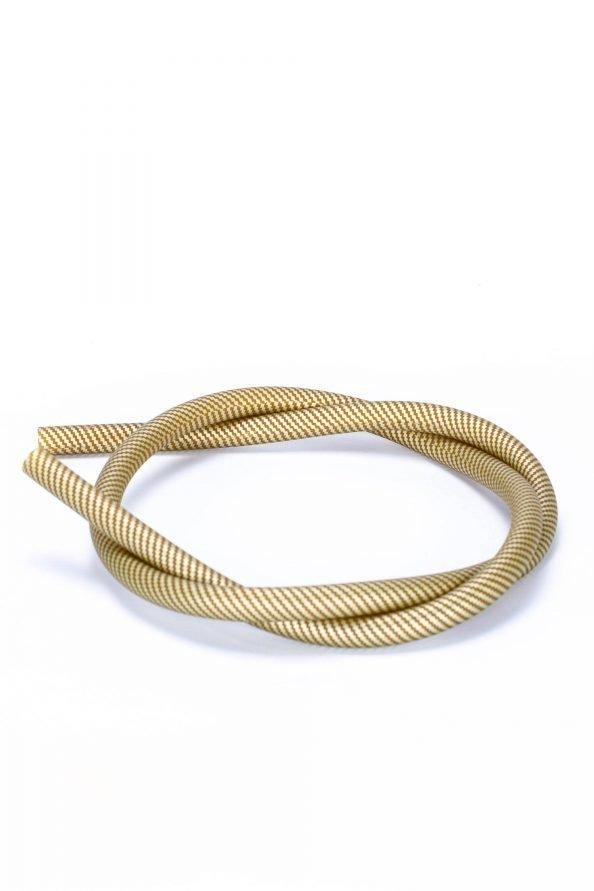 Silikonschlauch Gold Carbon-Optik