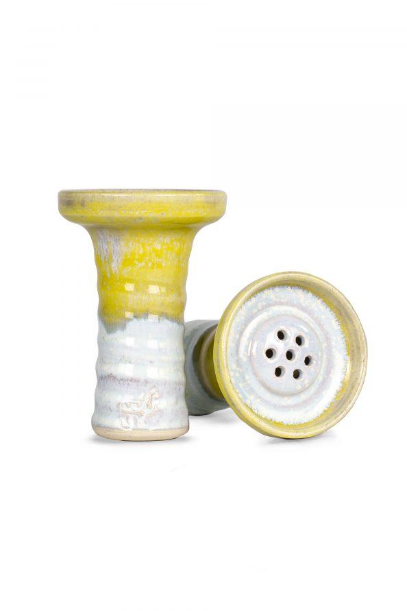 Alpaca Med Egy Yellow White Bowl