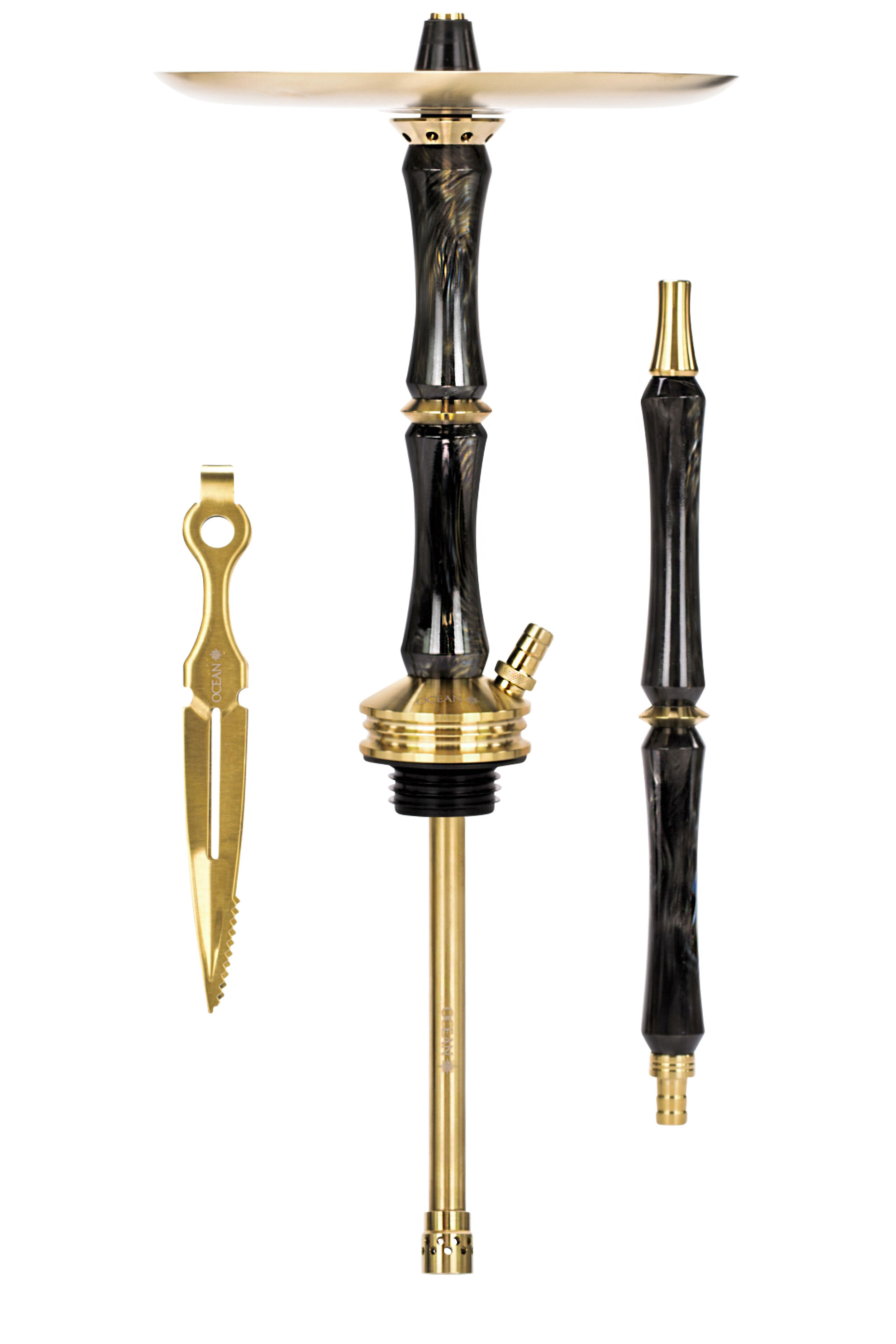 Ocean Hookah KAIF Stem Gold/Black