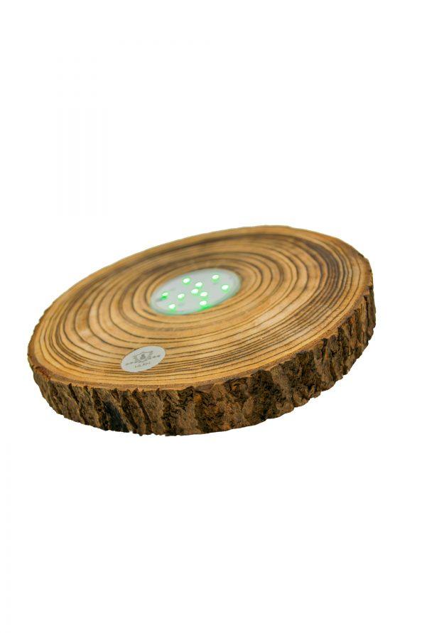 LED Untersetzer Holzscheibe