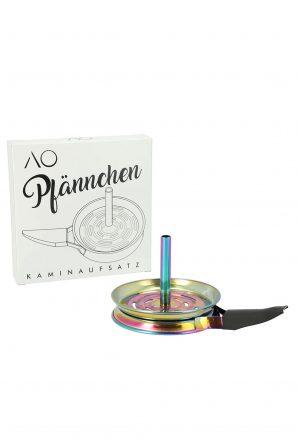 AO Pfännchen Kaminaufsatz Edelstahl Rainbow