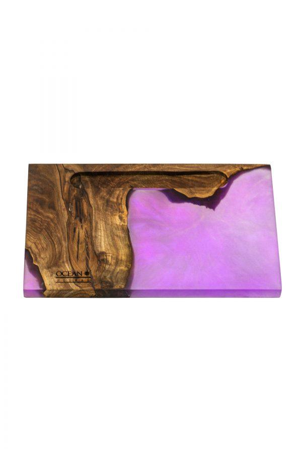 Epoxidharz Kopfbaubrett eckig purple