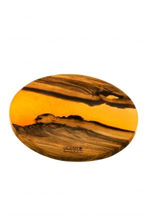Epoxidharzuntersetzter-Rund-Orange