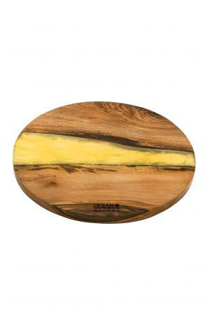 Epoxidharzuntersetzter-Rund-Yellow